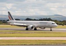 Air France flygbuss A321 Fotografering för Bildbyråer