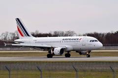 Air France flygbuss A319 Royaltyfri Fotografi