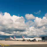 Air France Jet airplanes at Charles de Gaulle airport. Royalty Free Stock Photography