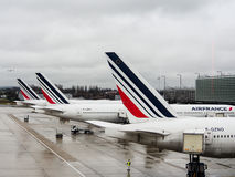 Air France's commercial aircraft at CDG airport Stock Photography