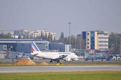 Air France-vliegtuig Royalty-vrije Stock Foto's