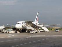 Air France-vliegtuigen Royalty-vrije Stock Afbeelding