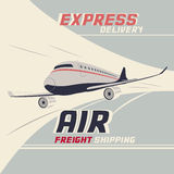 Air freight international shipping Stock Image