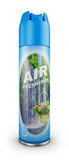 The air freshener. Air freshener in a blue bottle. 3d rendering Stock Images