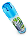 The air freshener. Air freshener in a blue bottle. 3d rendering Stock Image
