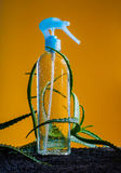 Air freshener in glass container water movement splash Stock Photos
