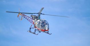 Air-glaciers helicopter, Switzerland Stock Photography