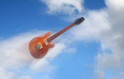 Air Guitar. Flys through the air like a Bird, or falls  to the ground the choice is yours Royalty Free Stock Images