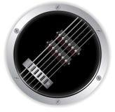 Air guitar metallic border Stock Photography