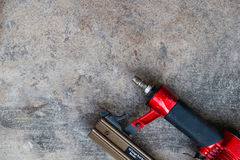 Air gun. On cement background Stock Photography