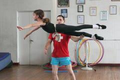 Air gymnasts training