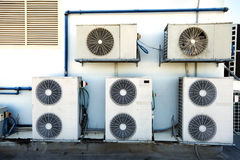 Rooftop Air Handling Units Royalty Free Stock Photo