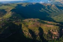 Air Hills Valleys Homes Terrain Royalty Free Stock Image
