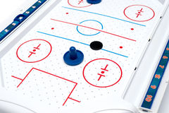 Air Hockey game board and pieces Stock Photo