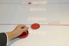 Air hockey table Stock Photo