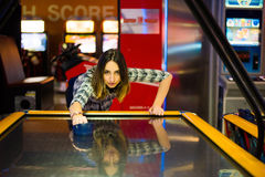 Air hockey table royalty free stock photos