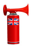 Air horn - English national team or celebration Royalty Free Stock Photo