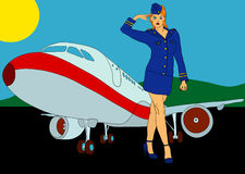 Air-hostess Stock Photo