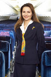 Air hostess Stock Photography