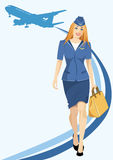 Air hostess Royalty Free Stock Images