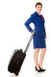 Air hostess with a bag Stock Image