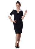 Air hostess in blue uniform. Royalty Free Stock Photos