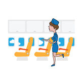 Air hostess cabin attendant Stock Images