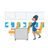 Air hostess cabin attendant Stock Photo