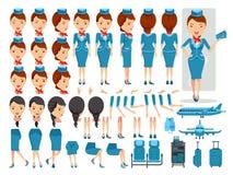 Air hostess Stock Photo