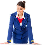 Air hostess isolated Stock Photos