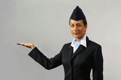 Air hostess. Portrait Royalty Free Stock Photo