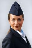 Air hostess. Portrait Stock Images