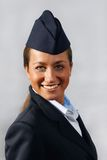Air hostess (stewardess). Portrait Stock Images