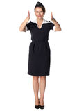 Air hostess in uniform Royalty Free Stock Photo