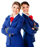 Air hostesses Stock Image
