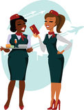 Air hostesses ready to fly Stock Photography