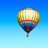 Air hot balloon. Air hot ballon on blue sky background. Single object with clipping path Royalty Free Stock Photo