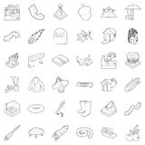 Air icons set, outline style. Air icons set. Outline set of 36 air vector icons for web isolated on white background Stock Image