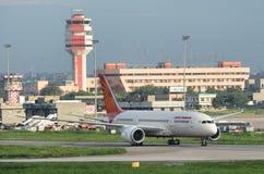 Air India первый Боинг 787 Dreamliner стоковое фото rf