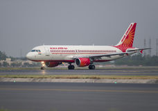 Air India Airbus 320 Royalty Free Stock Photo