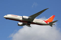 Air India Boeing 787-8 Dreamliner airplane Stock Image