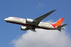 Air India Boeing 787-8 Dreamliner flygplan Fotografering för Bildbyråer