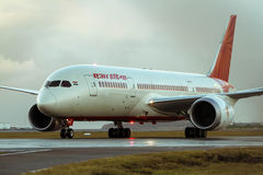 Air India Boeing 787 Dreamliner jet. On the runway Royalty Free Stock Images