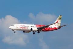 Air India Eil-Boeing 737-800 Lizenzfreie Stockfotos