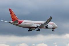 Air India planieren Lizenzfreie Stockfotografie