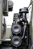 Air intake detail in a Russian military vehicle Stock Photography