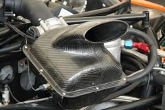 Air Intake. The Air Intake of a Powerful Car Engine Stock Photo