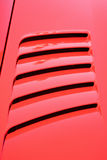 Air intakes. On the car hood royalty free stock image