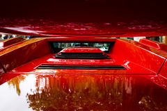 Air intakes and vents luxury sports car Lamborghini Countach 5000 Quattrovalvole. BERLIN - JUNE 14, 2015: Air intakes and vents luxury sports car Lamborghini royalty free stock image