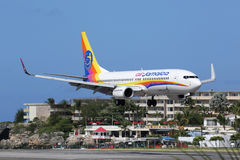 Air Jamaica Boeing 737-800 St Martin Photos libres de droits